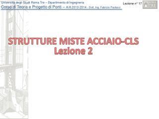STRUTTURE MISTE ACCIAIO-CLS Lezione 2