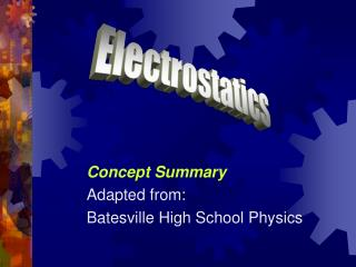 Concept Summary Adapted from: Batesville High School Physics