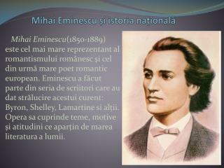Mihai Eminescu și istoria națională