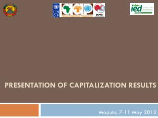 Presentation of capitalization results