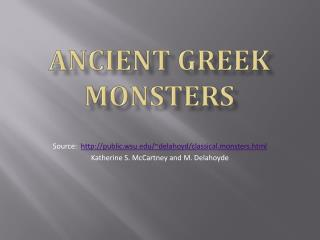Ancient Greek Monsters