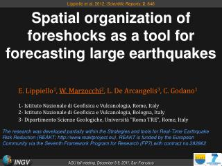 Spatial organization of foreshocks as a tool for forecasting large earthquakes