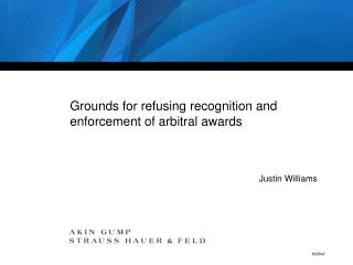 Grounds for refusing recognition and enforcement of arbitral awards