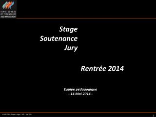 Stage Soutenance Jury