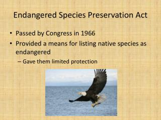 Endangered Species Preservation Act