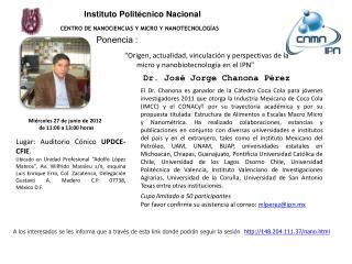 Instituto Politécnico Nacional CENTRO DE NANOCIENCIAS Y MICRO Y NANOTECNOLOGÍAS