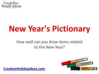 New Year's Pictionary