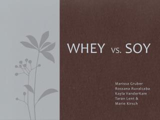 WHEY vs.   SOY