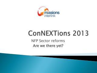 ConNEXTions  2013
