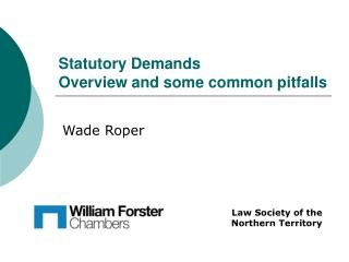 Statutory Demands Overview and some common pitfalls