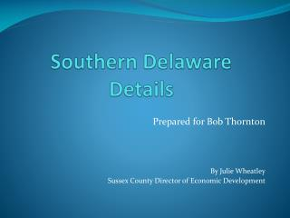 Sussex County Economic Development