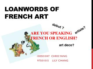 Loanwords of French art