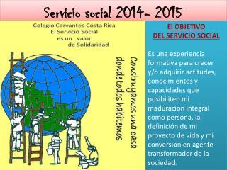 Servicio social 2014- 2015