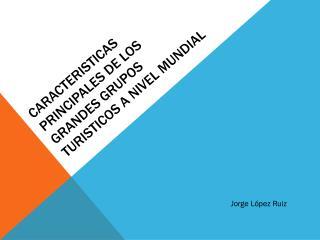 CARACTERISTICAS Principales DE LOS GRANDES Grupos TURISTICOS a nivel mundial