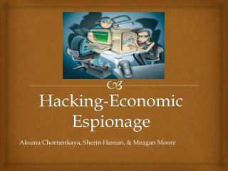Hacking-Economic Espionage