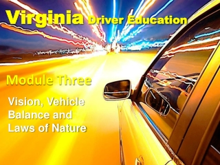 Natural Laws 6 THAT EFFECT DRIVING