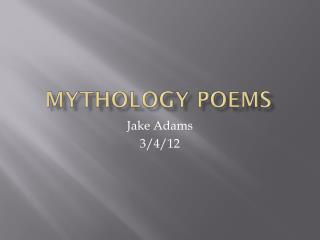Mythology Poems