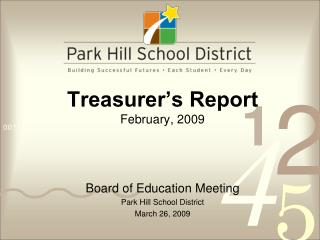 Treasurer's Report February, 2009