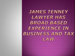 James Tenney Lawyer