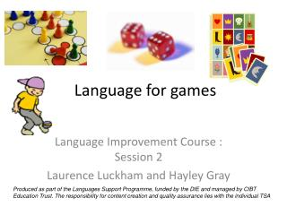 Language for games