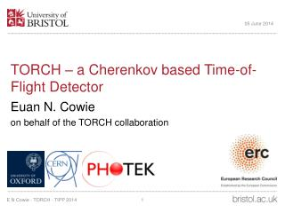 TORCH – a Cherenkov based Time-of-Flight Detector