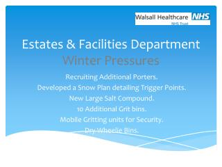 Estates & Facilities Department Winter Pressures