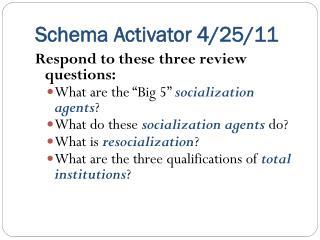 Schema Activator 4/25/11