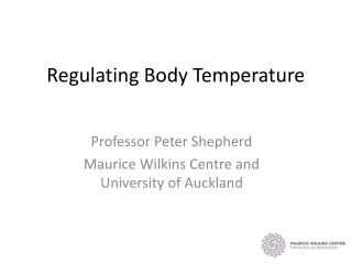Regulating Body Temperature