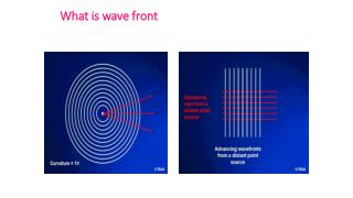 What is wave front