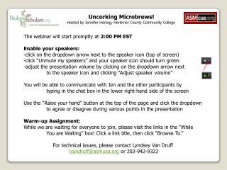 Uncorking  Microbrews! Hosted by Jennifer Herzog, Herkimer County Community College
