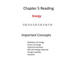 Chapter 5 Reading