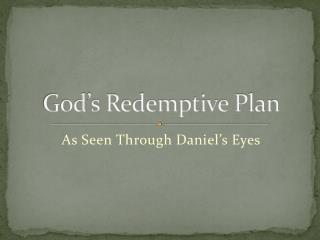 God's Redemptive Plan