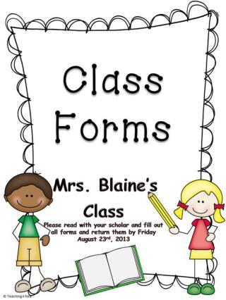 Mrs. Blaine's Class