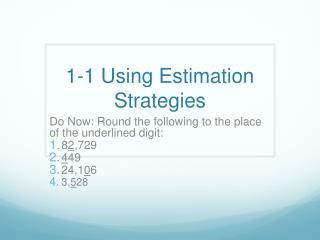1-1 Using Estimation Strategies