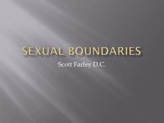 Sexual boundaries