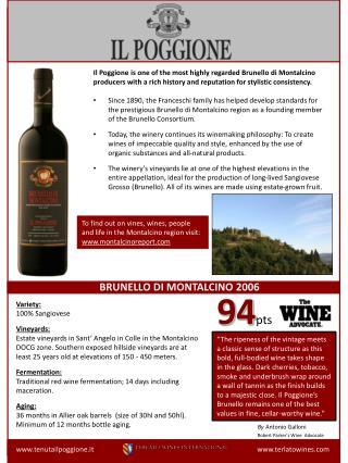 www.tenutailpoggione.it www.terlatowines.com