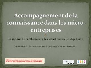 Accompagnement de la connaissance dans les micro-entreprises