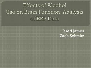 Effects of Alcohol  Use on Brain Function: Analysis of ERP Data