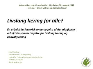 Livslang læring for alle?