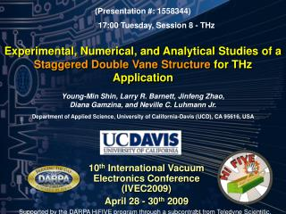 10 th  International Vacuum Electronics Conference (IVEC2009) April 28 - 30 th  2009