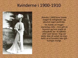 Kvinderne i 1900-1910