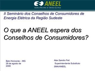 Slide 1 - Conselho de Consumidores - ANEEL
