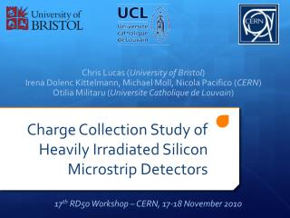 Charge Collection Study of Heavily Irradiated Silicon  Microstrip  Detectors