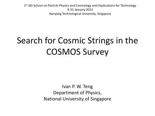Search for Cosmic Strings in the COSMOS Survey