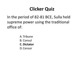 Clicker Quiz