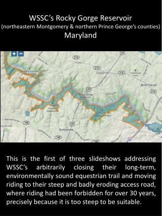 WSSC�s  Rocky Gorge Reservoir  (northeastern Montgomery & northern Prince George�s counties)