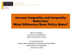 Income Inequality and Inequality Reduction What Difference Does Policy Make?