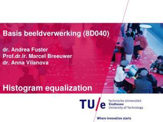 Basis  beeldverwerking  (8D040) dr. Andrea Fuster Prof.dr.ir . Marcel  Breeuwer dr. Anna  Vilanova