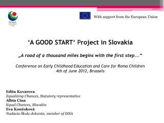 Edita Kovarova Equalizing Chances, Statutory representative Albin Cina Equal Chances ,  Slovakia