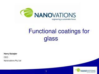 Harry Stulajter CEO Nanovations  Pty Ltd